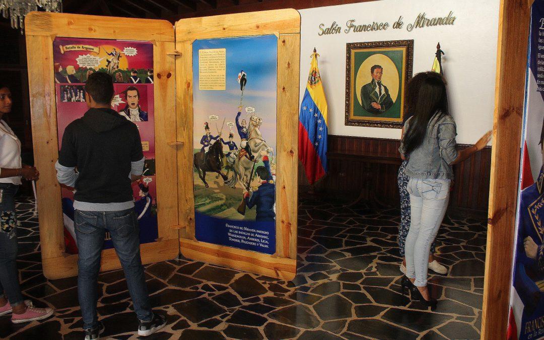Secretaría de Cultura presentó exposición de Francisco de Miranda