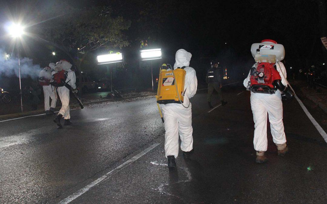 Realizan jornada de desinfección en calles y comunidades de Baruta