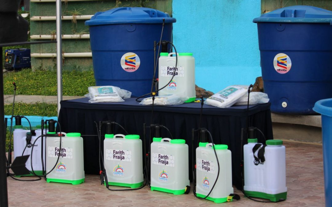 Gobiernos Comunitarios de Carrizal recibieron equipos de desinfección