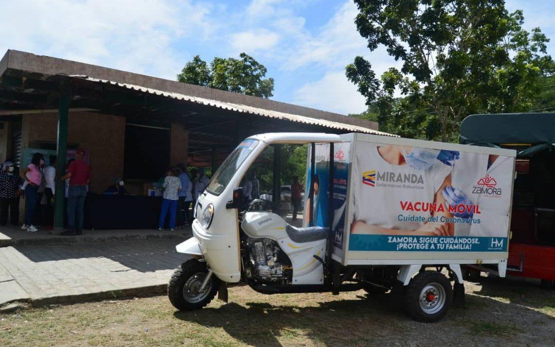 Activan unidades móviles de vacunación anticovid en Miranda